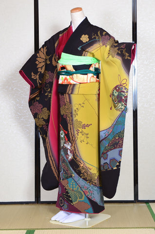 Long-sleeved kimono 6 items set / Furisode / FK#1-228