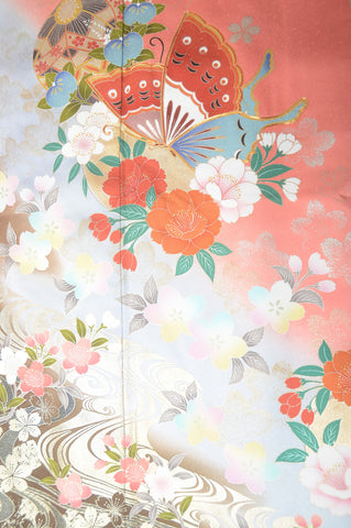 Long-sleeved kimono 6 items set / Furisode / FK#1-222