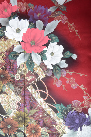 Long-sleeved kimono 6 items set / Furisode / FK#1-227