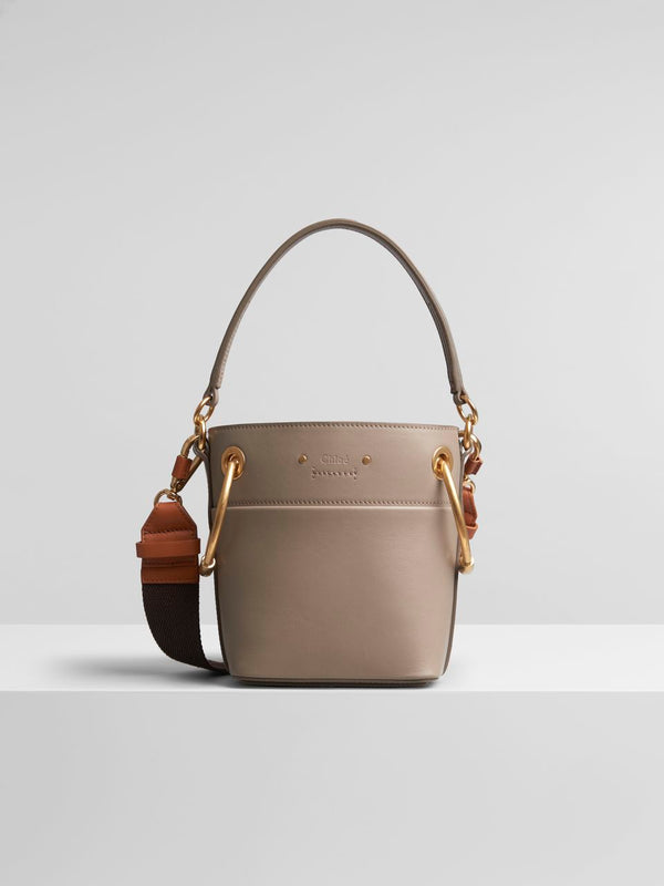Chloe Mini Roy Bucket Bag in Motty Grey
