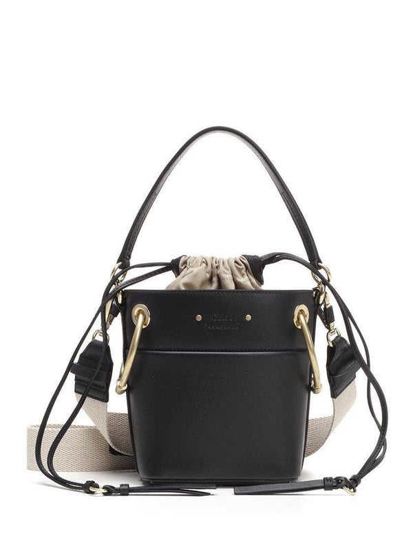 Chloe Mini Roy Bucket Bag in Black
