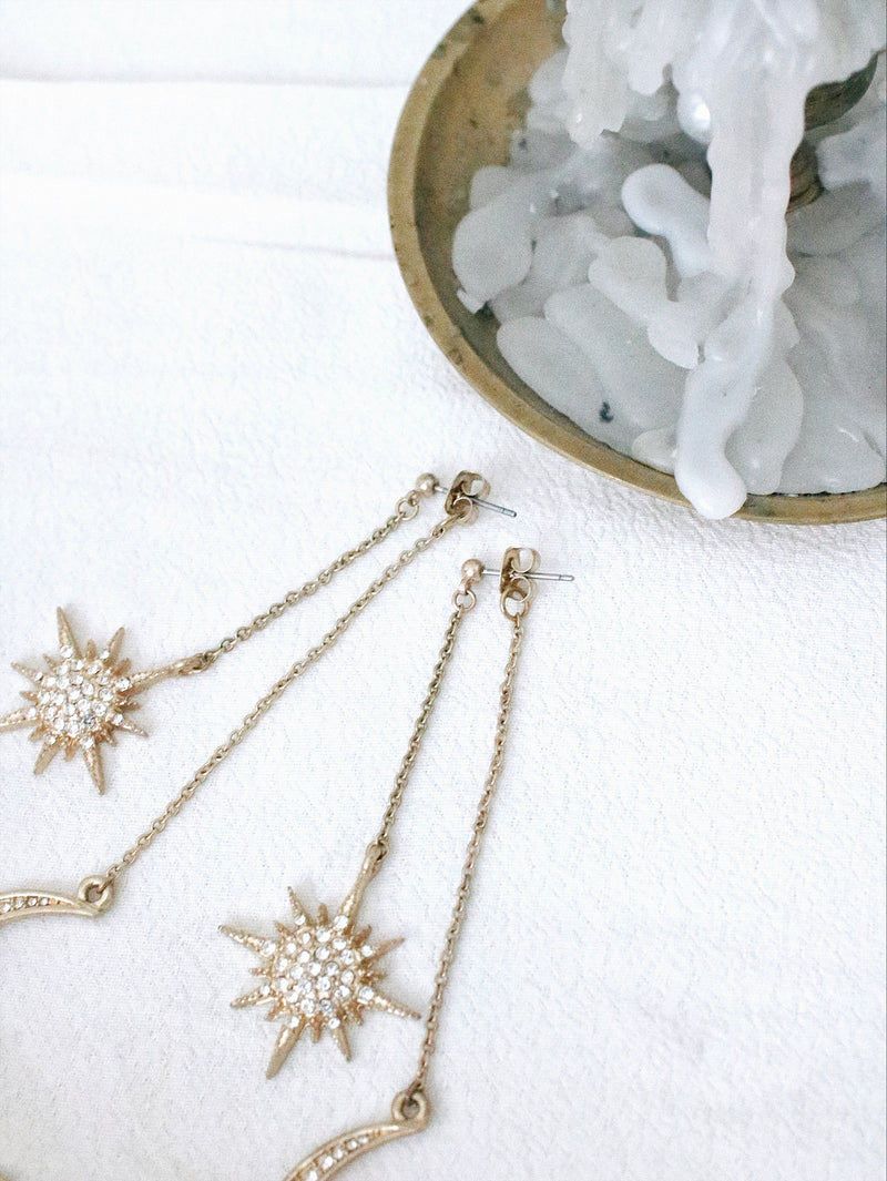 asuni, Star & Moon Earringns - asuni,