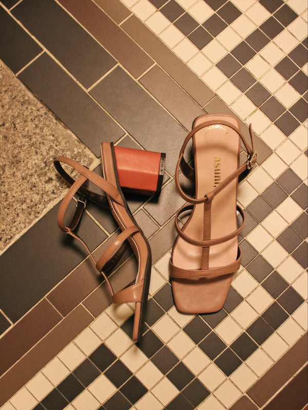 <現貨>asuni, X Korea Design Sandals Style 2 in Rose X Pink