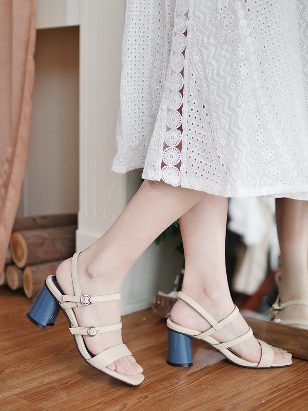 <現貨> asuni, X Korea Design Sandals Style 3 in Beige Blue