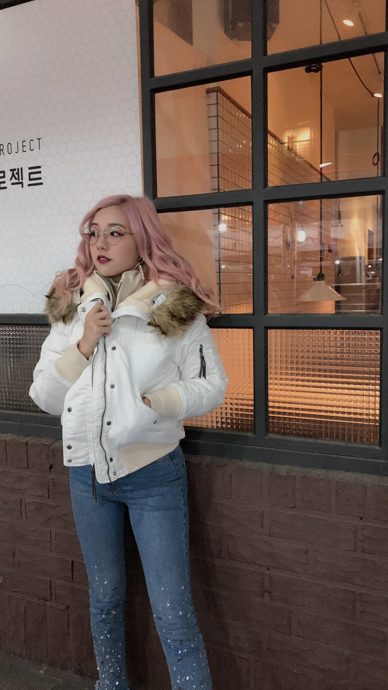 """The North Face"" Premium Duck Down Jacket - White"