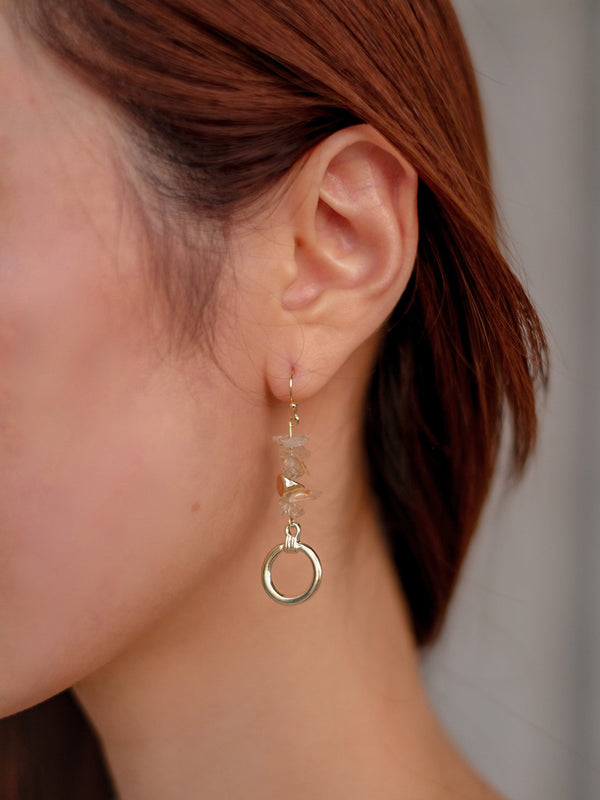 Asymmetrical Crystal Earrings
