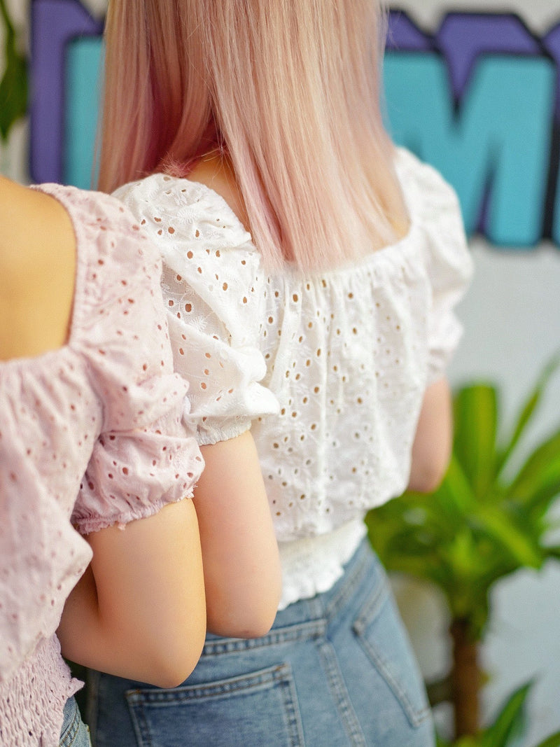 Sweet But Salty 2-Way Top With Twisted Detail in Pink & White