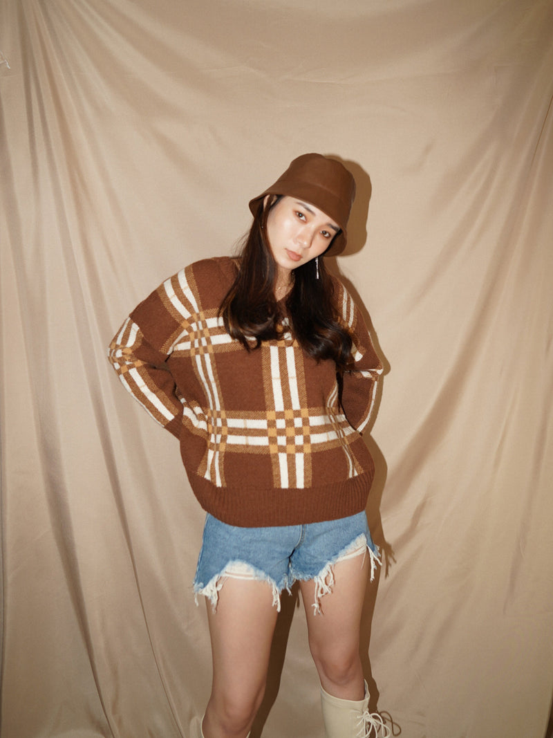 Oversize Patterned Sweater (Pre-order)