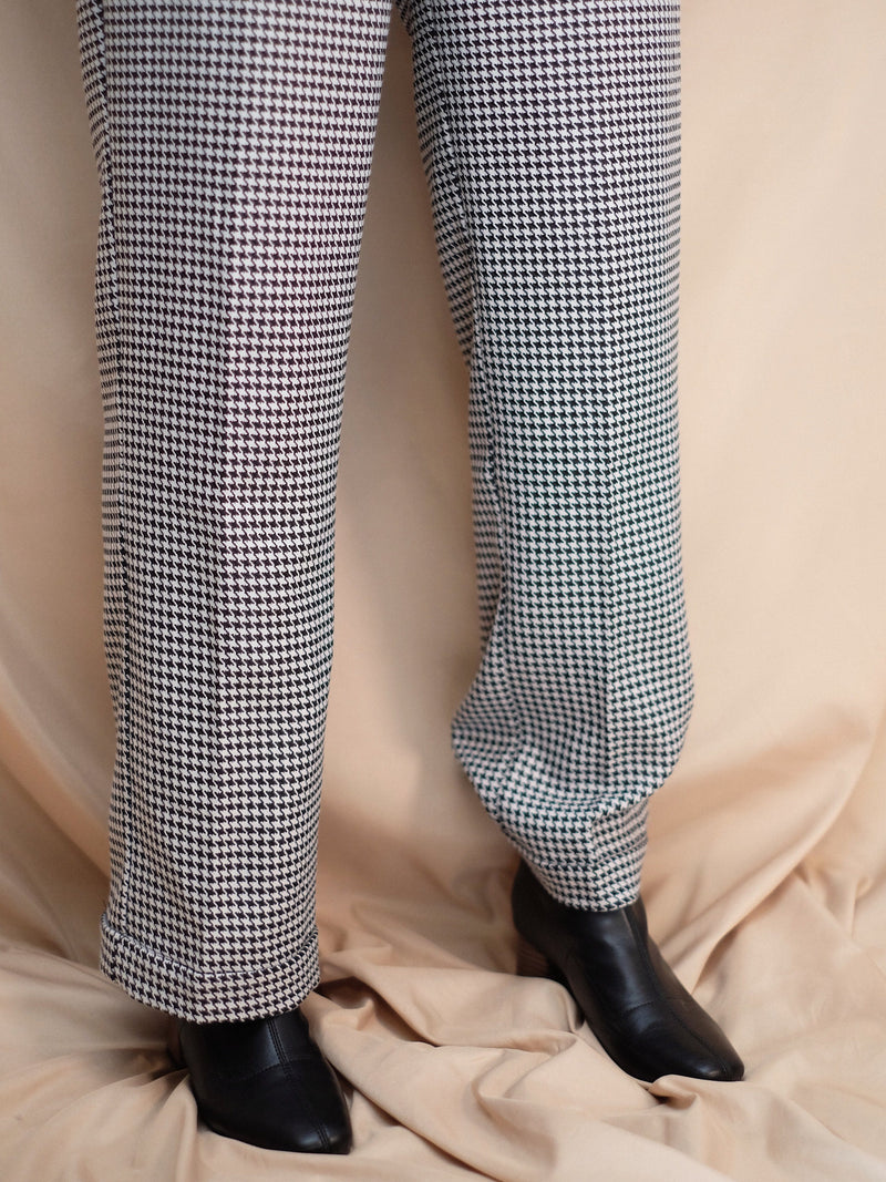 Houndstooth loose fit pants (Pre-order)