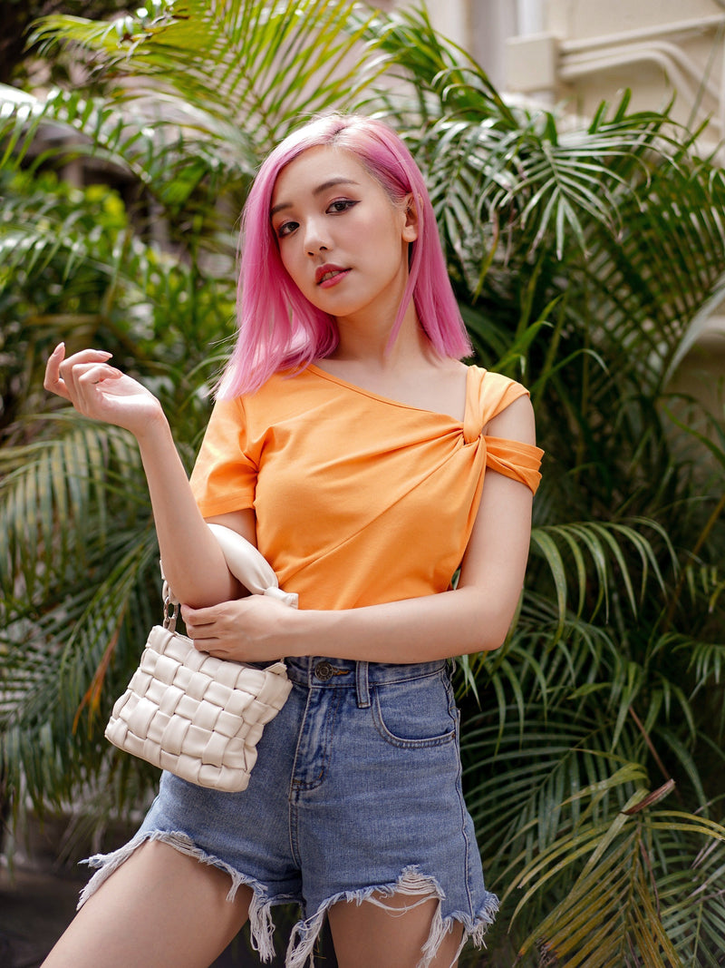 Sunny Vibes Top In Pumpkin Orange