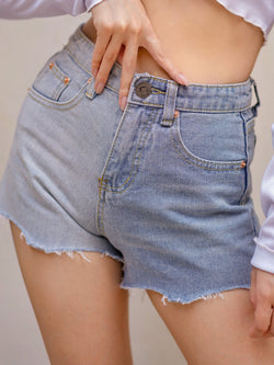 Denim Short In Mixed Color