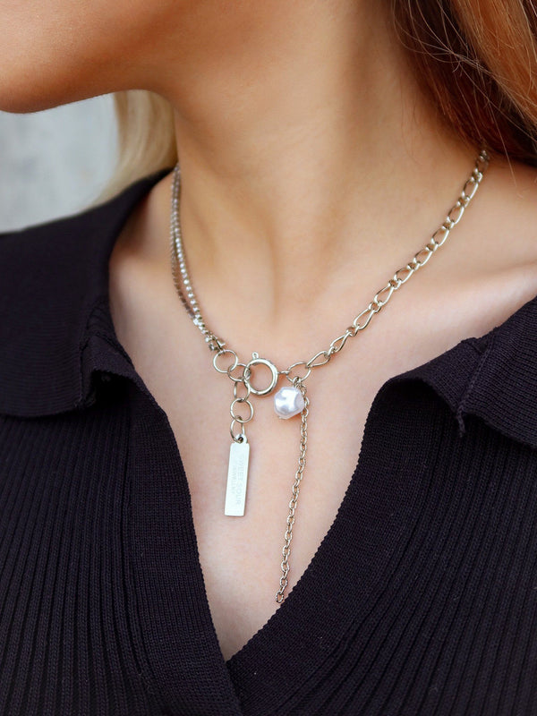 Bling Chain Necklace With Pendant x Pearl (Pre-order)