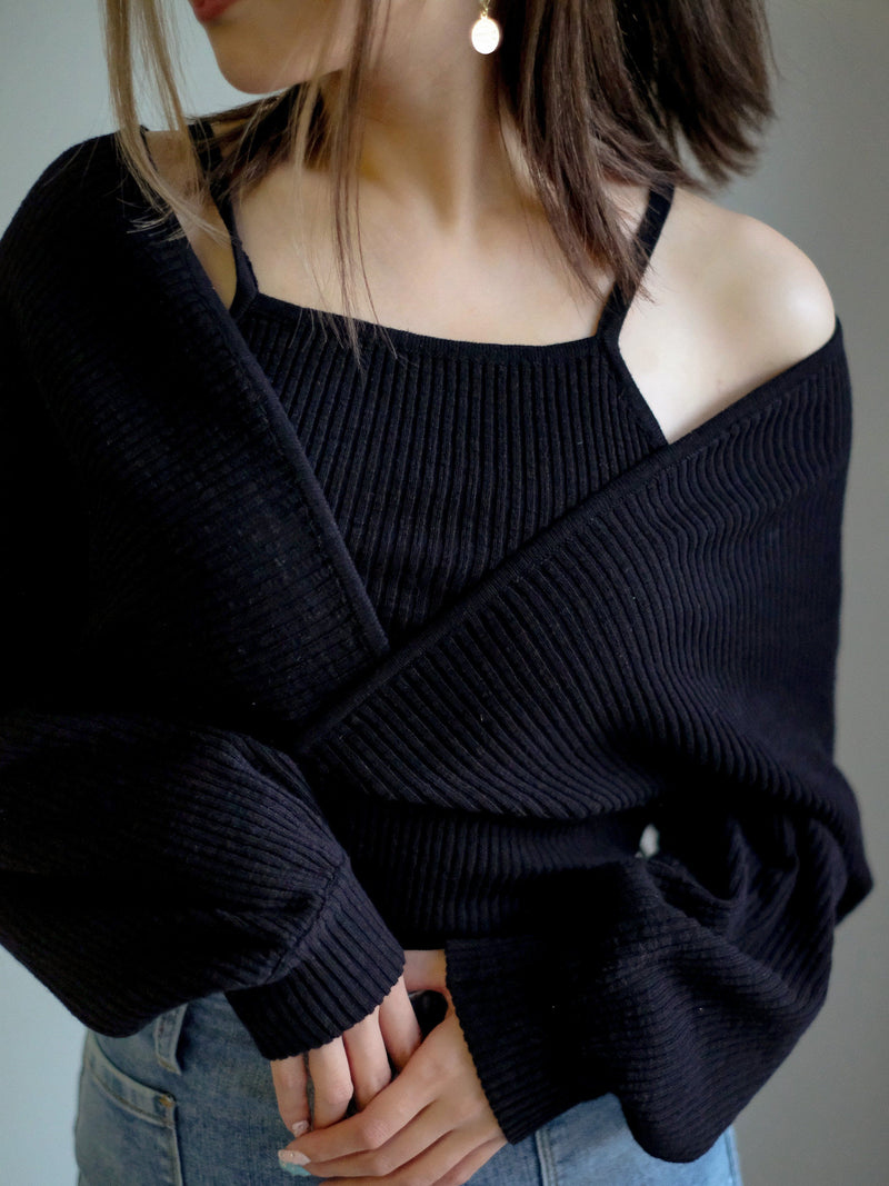 Fall Vibes Knit Top In Black