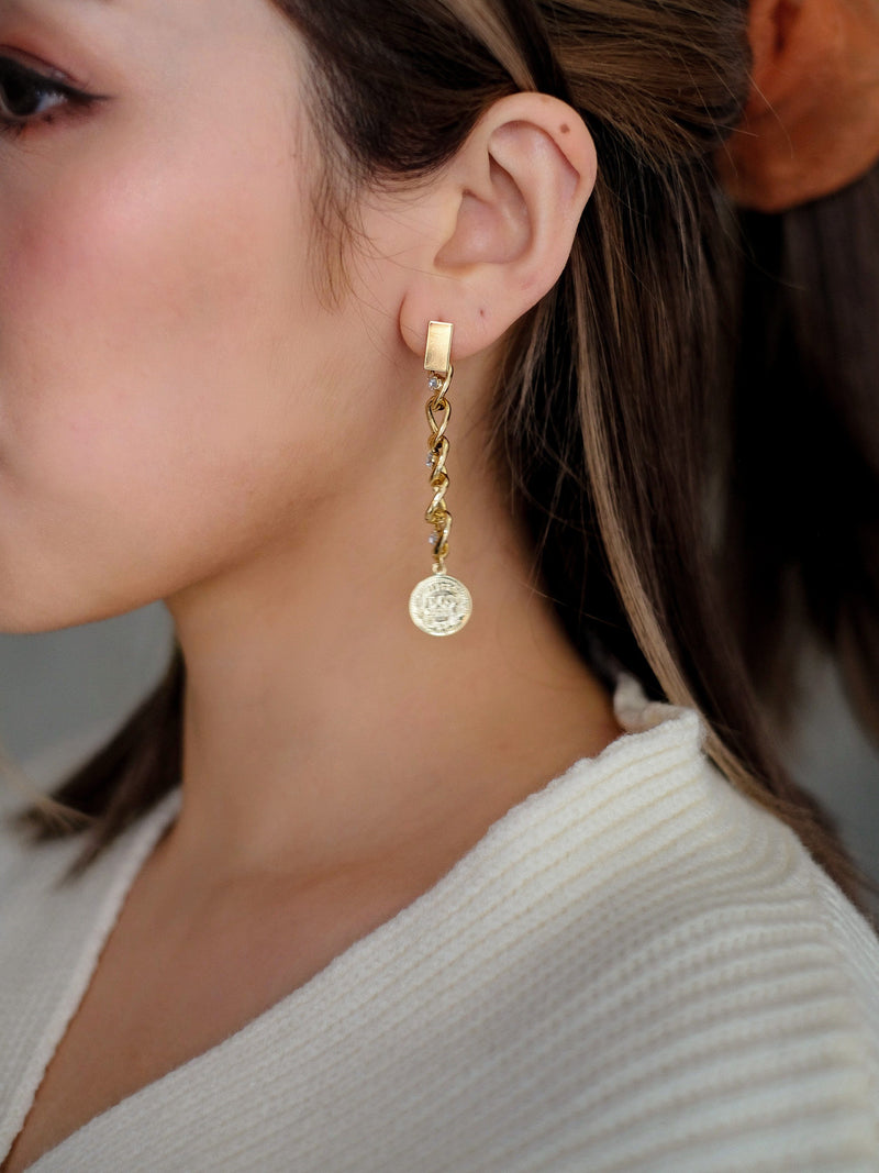 Asymmetrical Chain Earrings