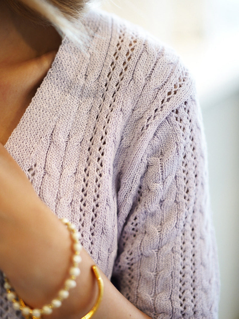 2-Way Short Sleeve Knit In Lavender