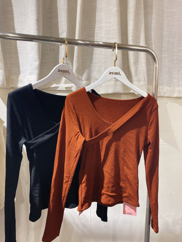Cross Neck Thermal Top (In Stock)