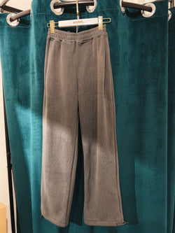 Elastic Waist Sweatpants In Dark Grey