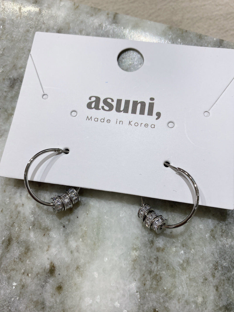 Silver Hoop With Charms