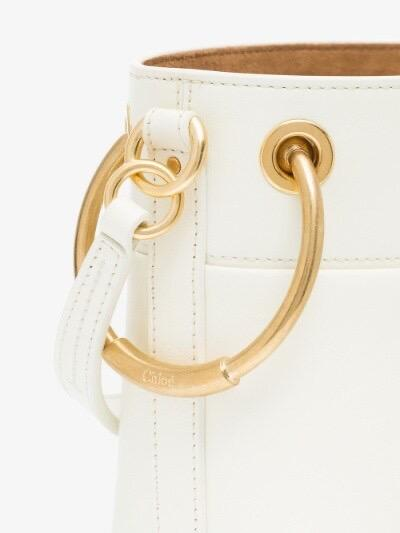 Chloe Mini Roy Bucket Bag in White