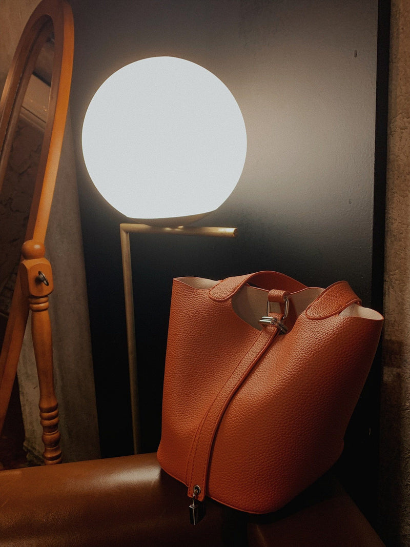 Causal Bucket Bag in Orange Color