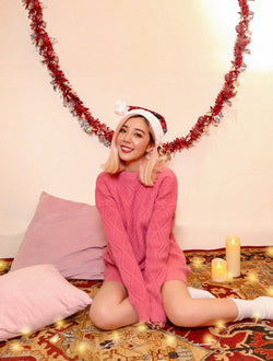 Adore You Long Knit Wear in Pink (soft & cozy)