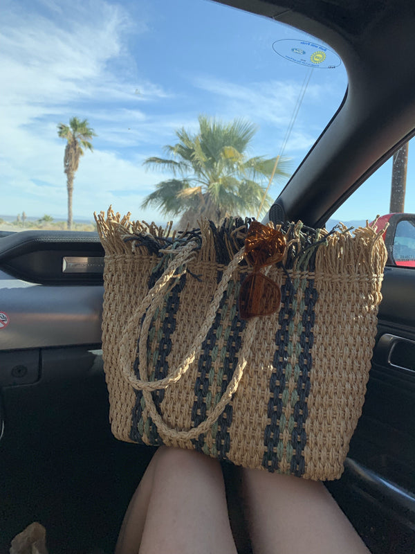 Natural Straw Basket Bag