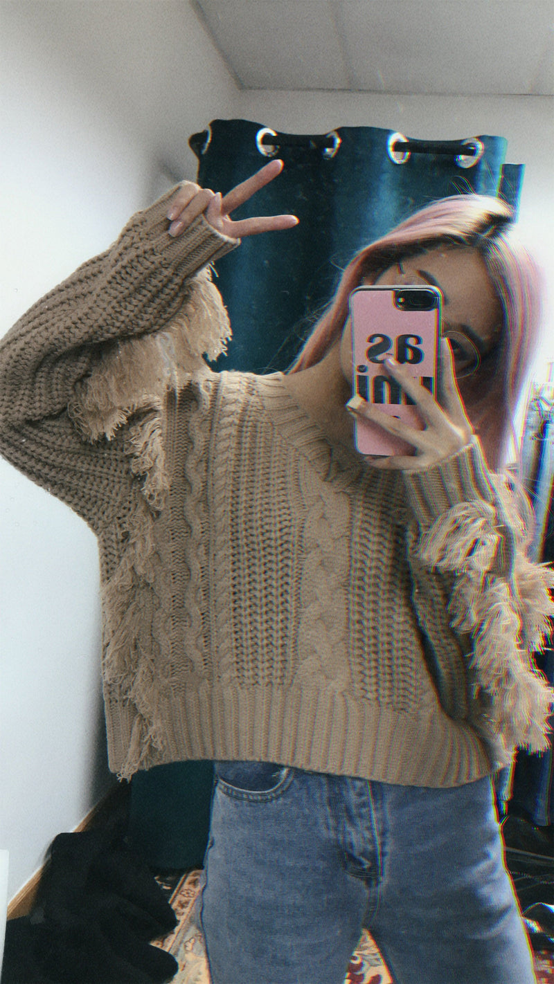 Beige Knit Wear