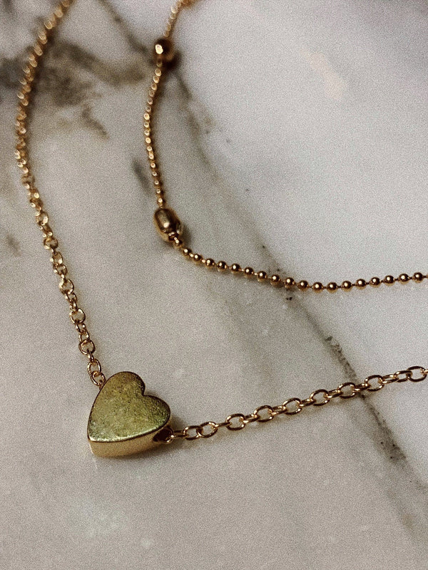 Heart Shape Detail Double Chocker