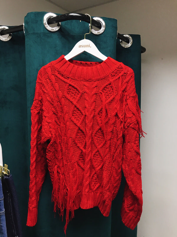 Red Knit Wear