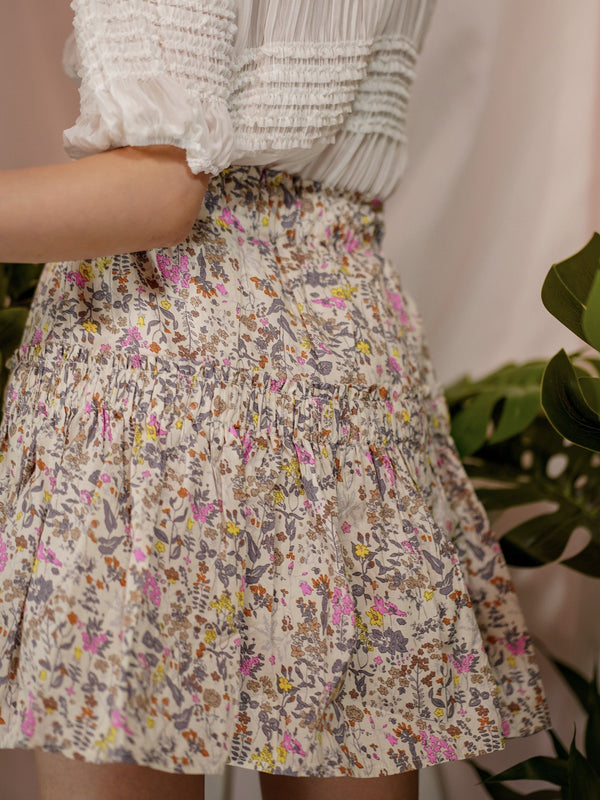 Blissful Floral Skirt
