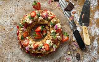 Chef Kenny's Strawberry and Rose Paris-Brest
