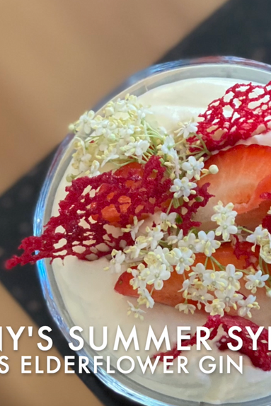 Elderflower Gin Summer Syllabub