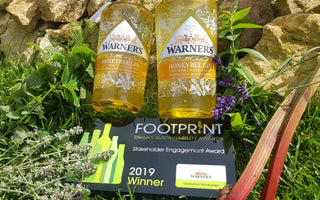 Warner's Distillery wins Stakeholder Engagement Award at the Footprint Drinks Sustainability Awards 2019