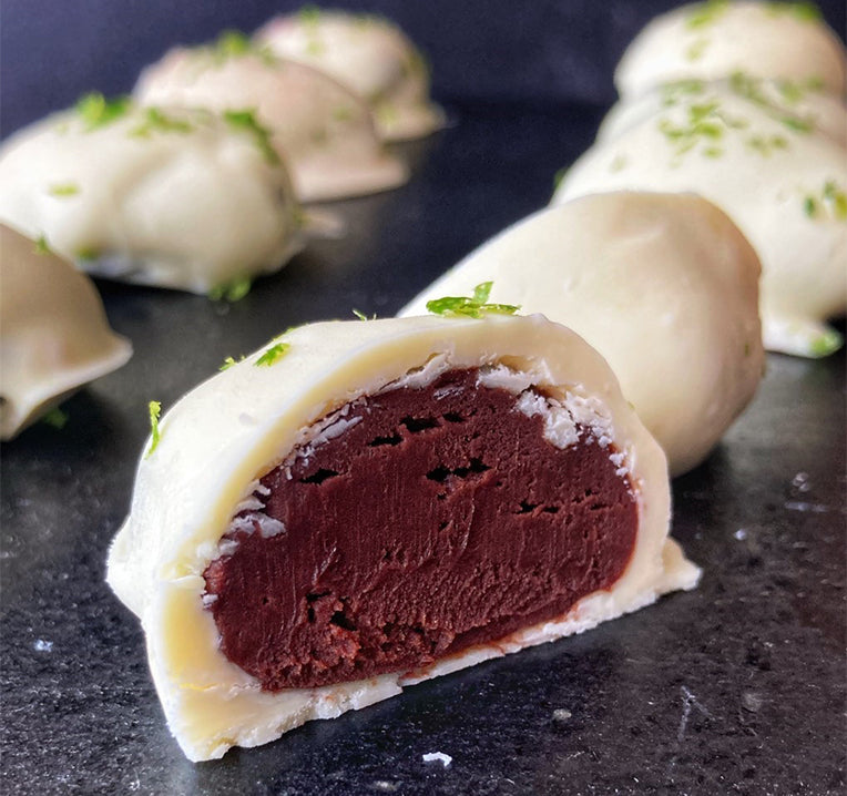 Gin and tonic flavoured truffles