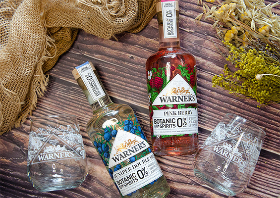 0% Botanic Garden Spirits bundle includes glassware