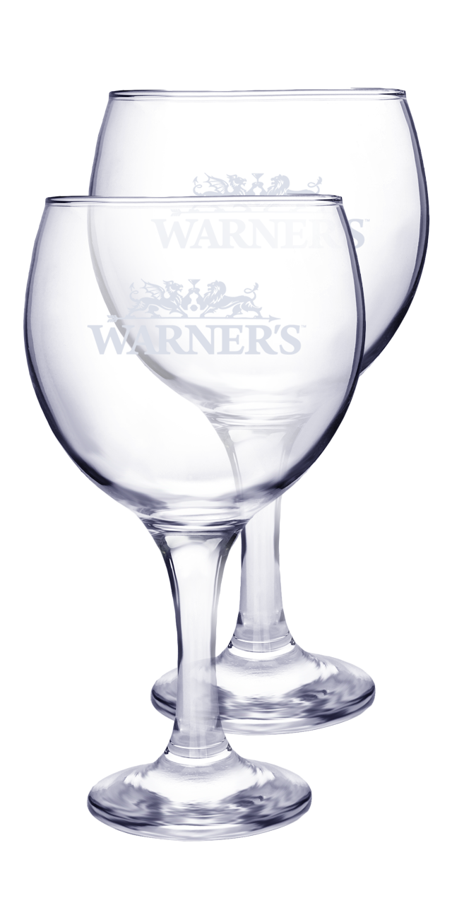Warner's Branded Copa Gin Glass - Set of 2 #default