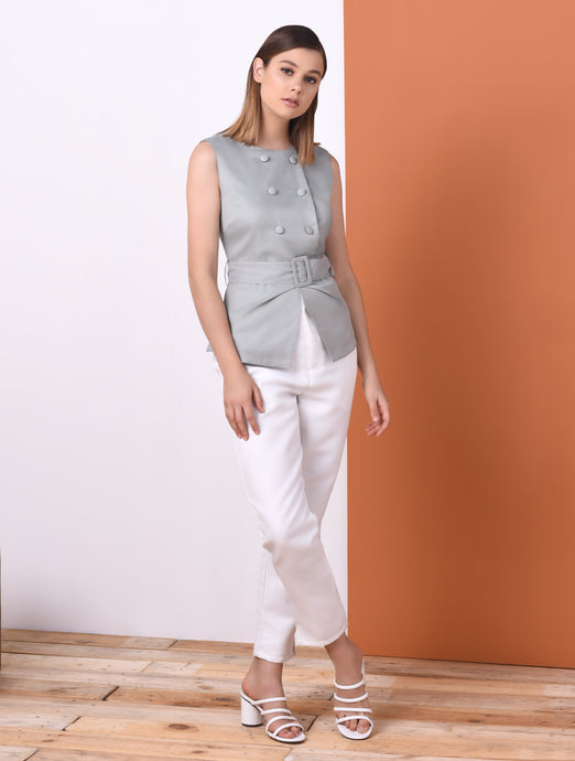 Oblong Sleeveless Top