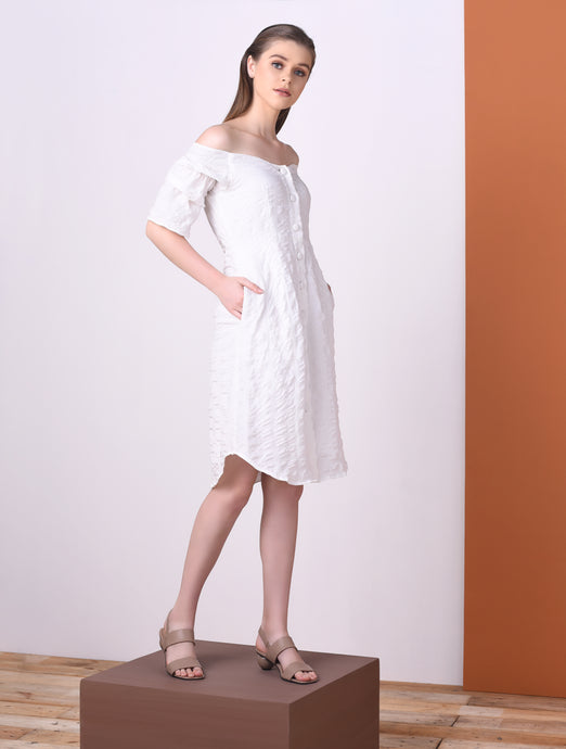 Qwerty Long Sleeve Dress
