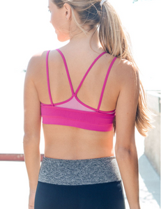 Fuchsia Double Layer Sports / Yoga Bra - Her Athletic Lifestyle