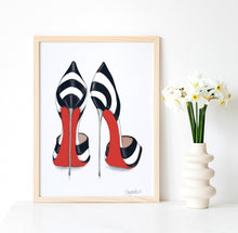 Load image into Gallery viewer, Black and White Heels