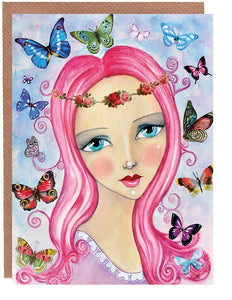 Butterfly Love Greetings Card by Sonya Bull Art