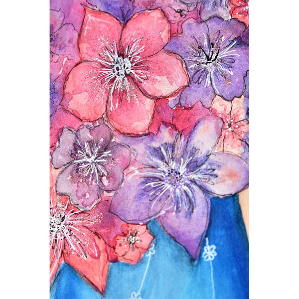Flowers On Her Head Giclee Fine Art Print by Sonya Bull Art