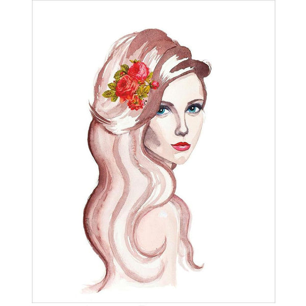 Sultry Lady Giclee Fine Art Print by Sonya Bull Art