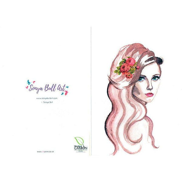 Sultry Lady Greeting Card Greeting Card - Sonya Bull Art