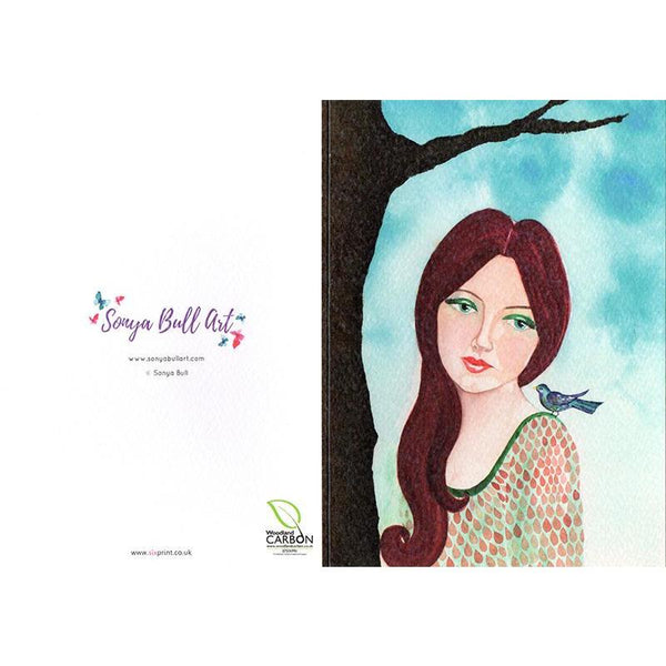 Wistful Greeting Card Greeting Card - Sonya Bull Art