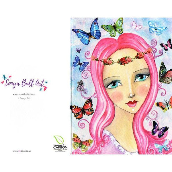 Butterfly Love Greeting Card by Sonya Bull Art