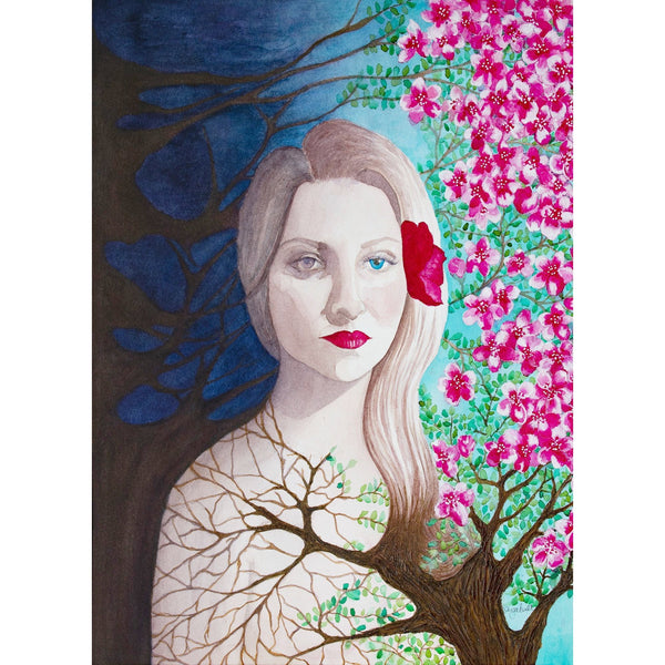 She Blossoms Giclee Fine Art Print