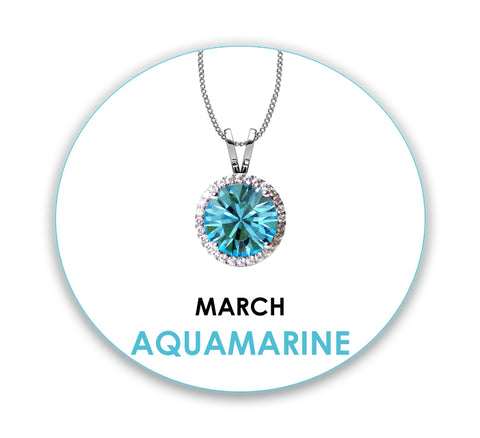 Image of Personalized Swarovski® Birthstone Crystal Pendant in Rhodium