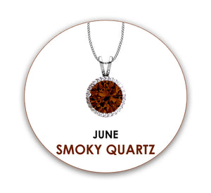 Personalized Swarovski® Birthstone Crystal Pendant in Rhodium