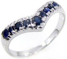 Load image into Gallery viewer, Midnight Blue Natural Sapphire Sterling Silver Ring in your Choice of Size Free Shipping